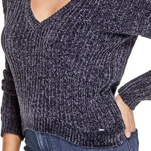 Guess Women Sweater Size M V-Neck Crop
